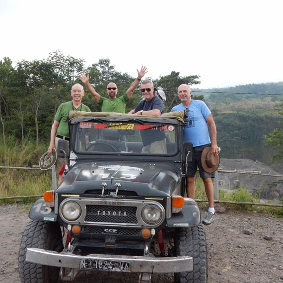 Safari at Mount Merapi Volcano, Indonesia. Courtesy of Toto Tours.
